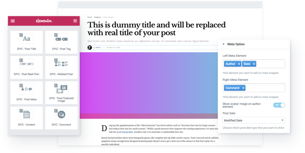 Epic News Element – News Blog Addons for Elementor & WPBakery Page